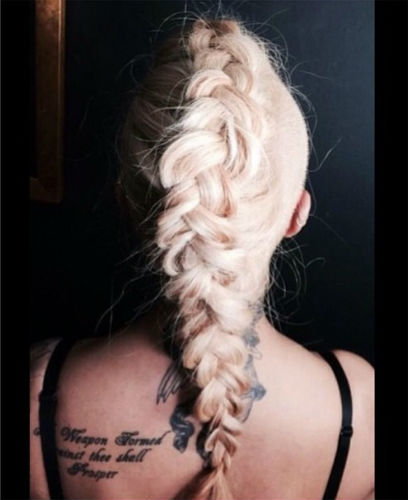 cool blonde braid